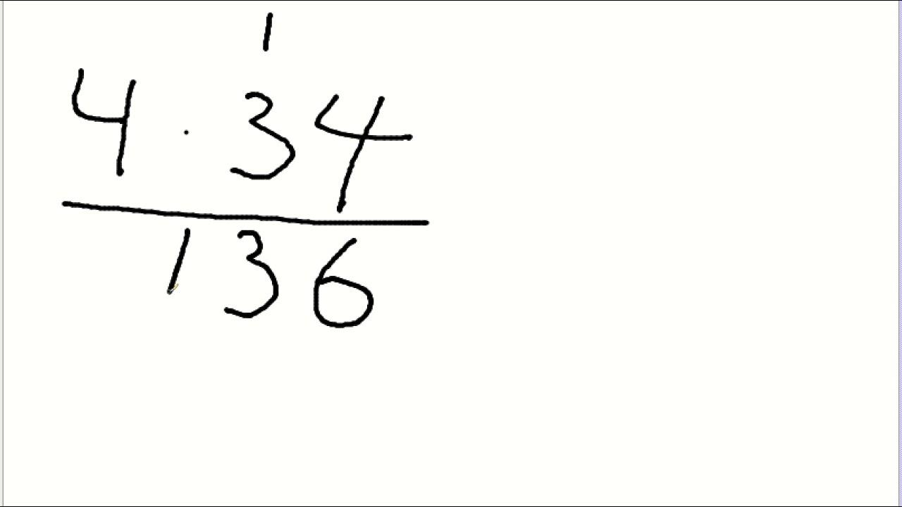 Gange af et etcifret tal med et flercifret