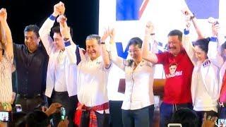 เพื่อไทยหาเสียงเข้ม  'สุดารัตน์' จับมือ 'เฉลิม' ประกาศอยากแจกบัตรคนรวย