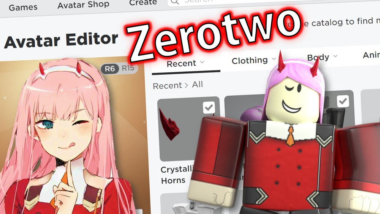 Sticker Version 2 Ytchannel Roblox Robloxavatar Noface Making Zerotwo A Roblox Account Youtube