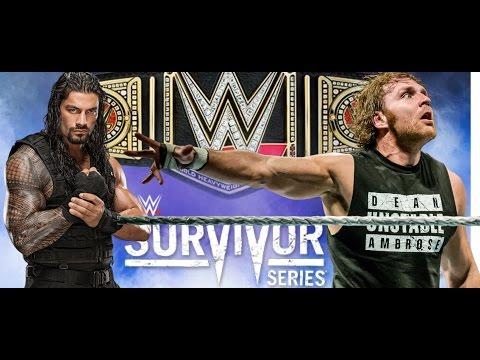 MAJOR WWE Survivor Series 2015 Shocking Backstage News On Roman Reigns Dean Ambrose