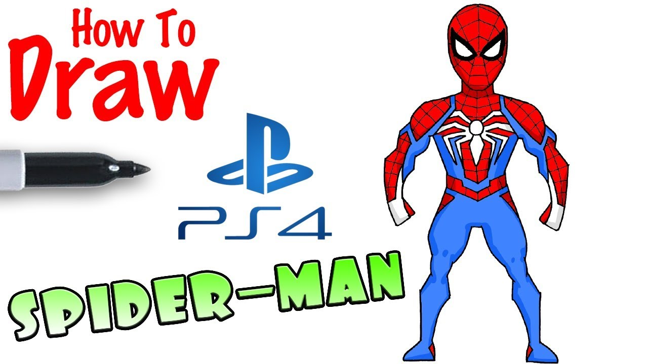 How To Draw Spider Man Ps4 Youtube - Cool-pics-for-kids-to-draw