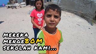 Download Lagu KEMBALI BERULAH, I5R4EL BOM SEKOLAH DI GAZA - VLOG Muhammad Husein Gaza mp3