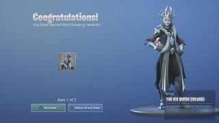 *UNLOCKING* NEW 'ICE QUEEN' Skin (SILVER Colour Unlockable Style) Fortnite