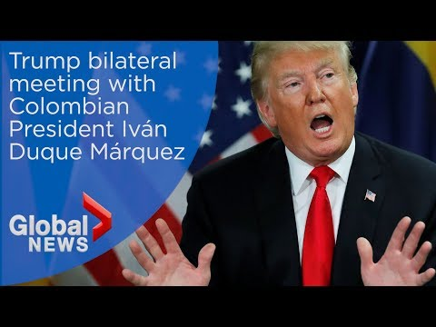 Trump meets with Colombia's president Iván Duque