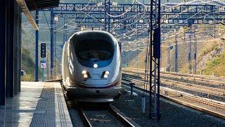Скоростной поезд AVE Барселона - Мадрид. Свыше 300 км/ч