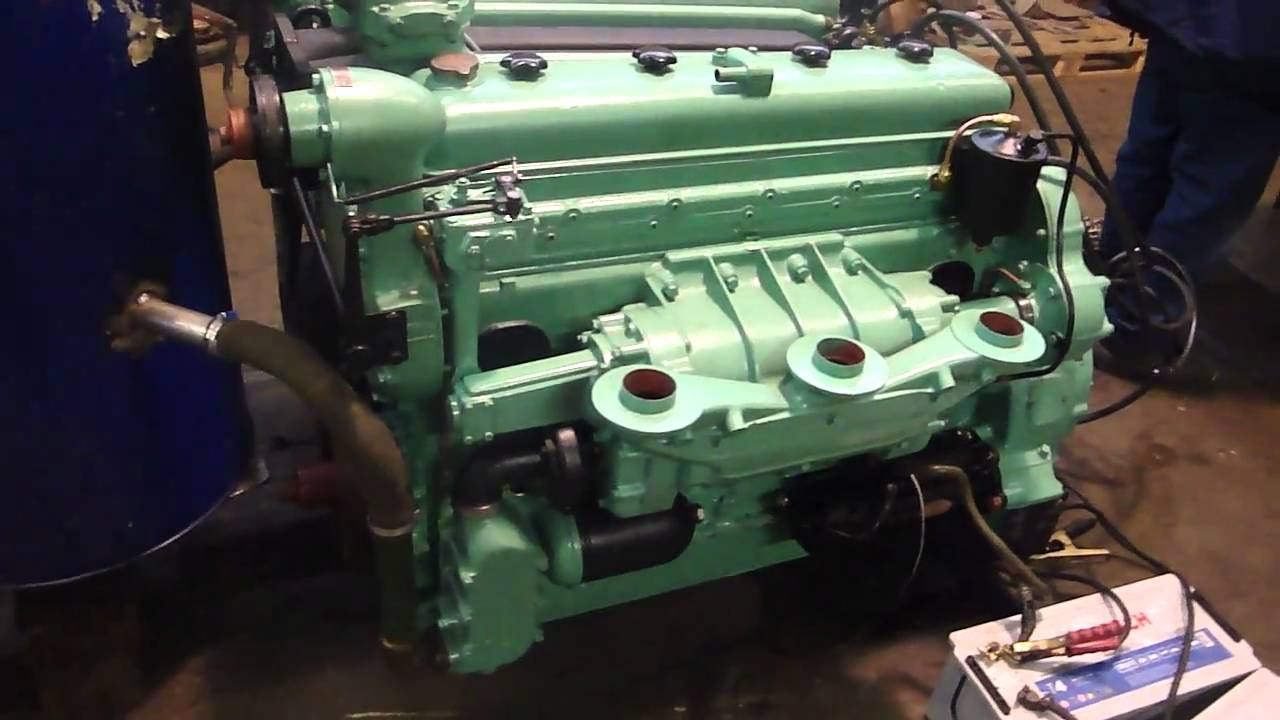 Sherman tank engine gm 6046 twindiesel fire up youtube for General motors marine engines