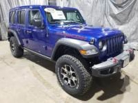 2020 Ocean Blue Metallic Jeep Wrangler Unlimited Rubicon 4x4 AJT6102 Motor Inn Auto Group