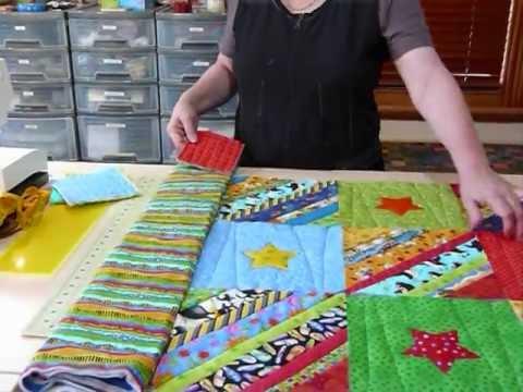How to prepare Borders for a Quilt as you Go quilt - Quilting Tips ... : sew as you go quilts - Adamdwight.com