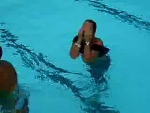 Liana gets baptized