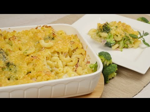 Nudelauflauf mit Brokkoli & Käse