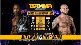 BAMMA 34: Alex Lohore vs Terry Brazier