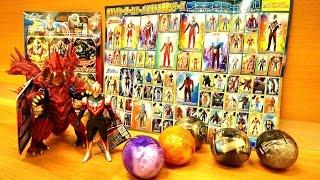 チラシ凄っ!ウルトラマン関係の玩具買ってきた。★ソフビ  サンダーブレスター、マガオロチ、アルティメットルミナス thumbnail