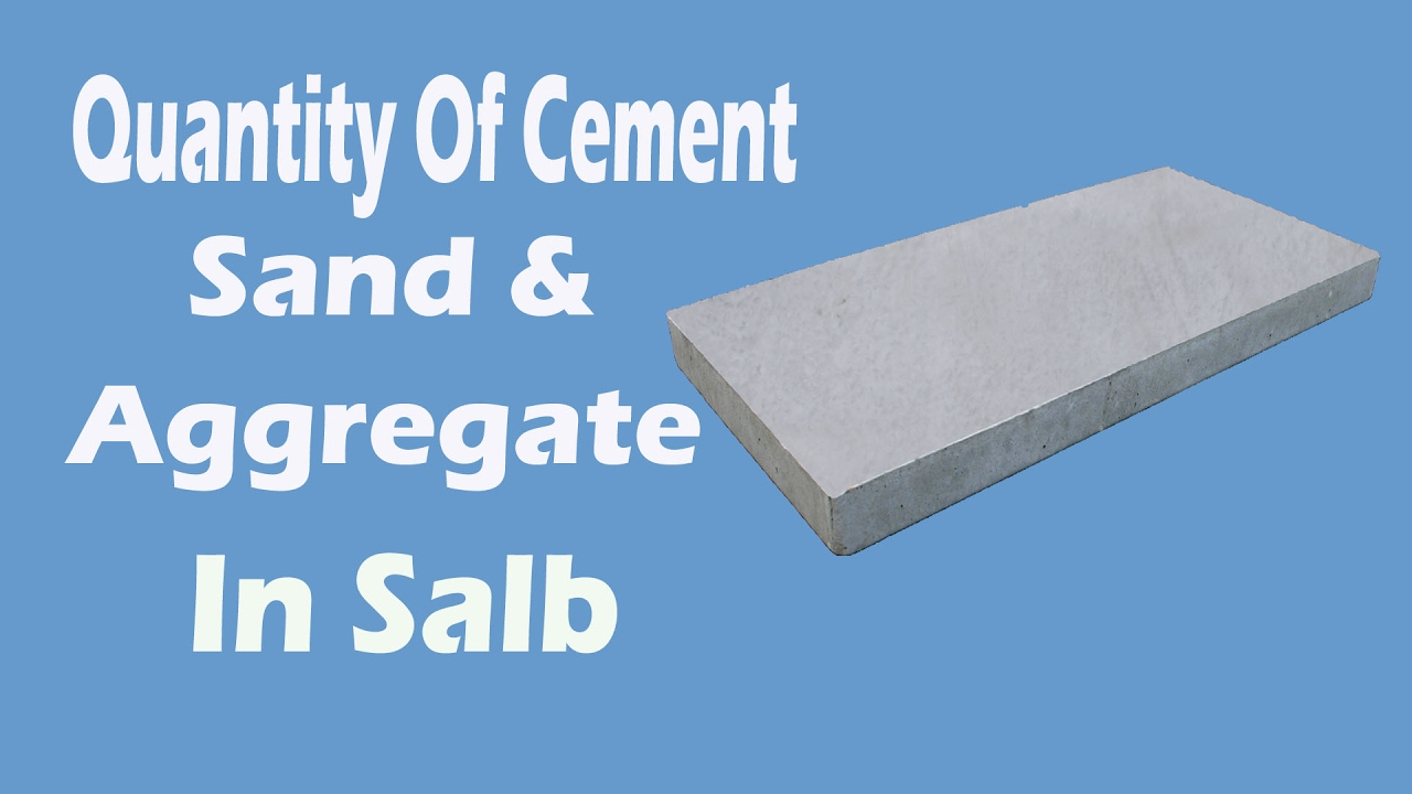 How To Calculate Quantity For Cement Sand Aggregate In Concrete
