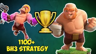 1100+ TROPHIES   BEST BUILDER HALL 3 STRATEGY - Clash of Clans!