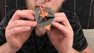 ASMR ORIGAMI LANTERN | Paper Cutting, Folding, Tearing