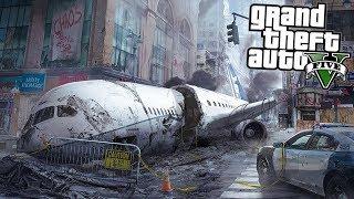 В центре города упал и разбился самолет - спасаю девушку - реальная жизнь в гта 5 моды gta 5