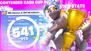WORLD RECORD 🏆 1st Place in Fortnite Duo Cash Cup ($2700) ft. Khanada | NRG Unknown