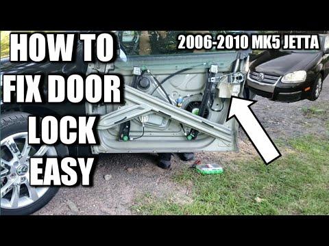 How to fix door lock MK5 VW JETTA (2006-2010) EASY