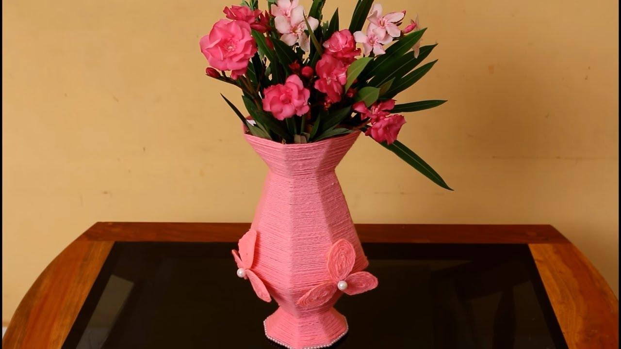 Easy and fast Flower Vase making  DIY flower vase