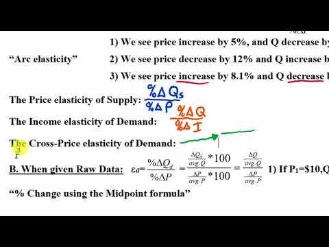 Elasticity 3: Calculating Elasticities & Midpoint Formula (Full Lecture)