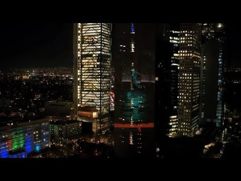 Asombrosas proyecciones digitales sobre Paseo de la Reforma VAW MX