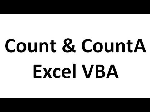 Count and CountA in VBA Excel