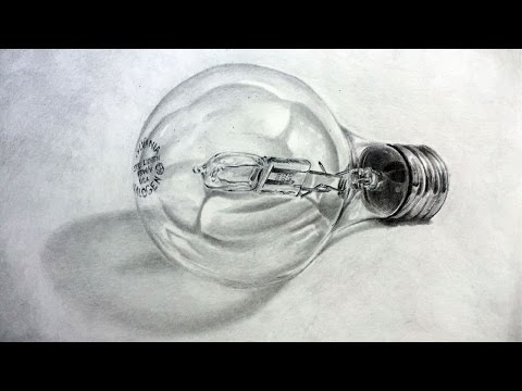 How to Draw with Graphite Pencils - Realistic Light Bulb