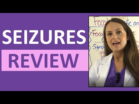 Seizures (Epilepsy) Nursing NCLEX: Tonic-Clonic, Generalized, Focal, Symptoms