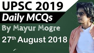 UPSC 2019 Preparation - 27 August 2018 Daily Current Affairs for UPSC  IAS 2019