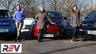 The REV Test: Electric cars. BMW i3s vs Kia Soul EV vs Renault Zoe