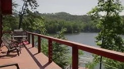 Lake Lure North Carolina - Lakefront Log Cabin VRBO# 586198