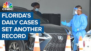 Florida sets another record for daily Covid-19 cases
