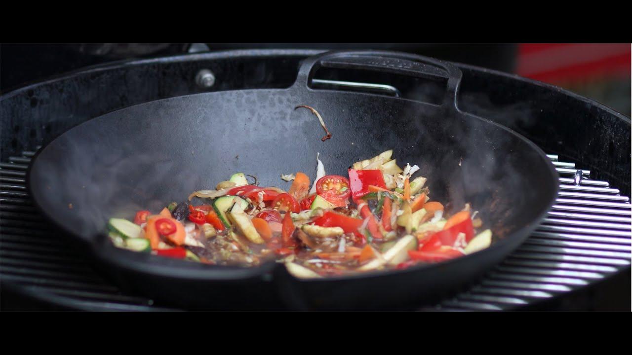 Wok Für Gasgrill : Asiatisches wokgemüse vom grill rostkost.de youtube