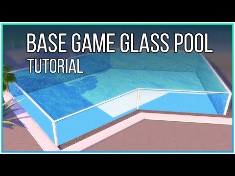 Sims 4 Tutorial - Base Game Glass Pool (No CC, No Mods) | Kate Emerald thumbnail