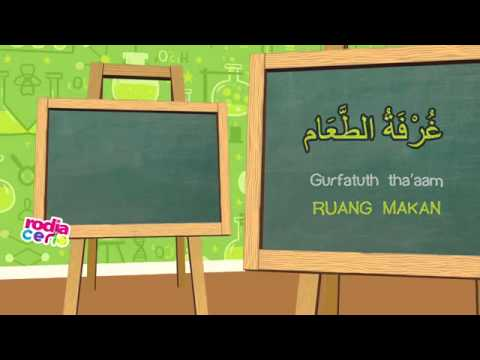 Belajar Bahasa ARab Dasar untuk  anak-anak Kosakata -Rumah Kita