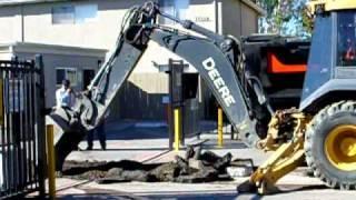 Construction - Part 3 - Deere Backhoe in Action
