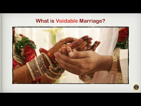 What is Voidable Marriage?