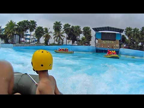 Tsunami Raft Water Ride at Hawai Water Park Malang