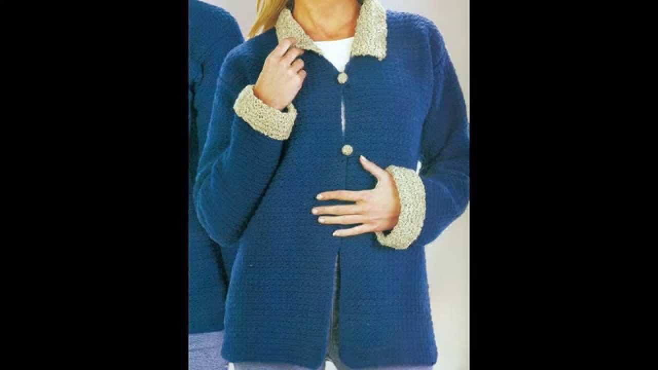Patrón para tejer chaqueta a crochet - YouTube