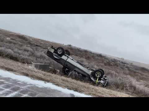 11-10-19 Rapid City, SD And I90 - Freezing Rain To Heavy Snow, Rollovers