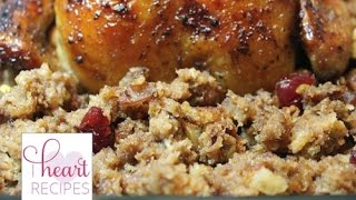 Cranberry Apple Bread Stuffing | I Heart Recipes