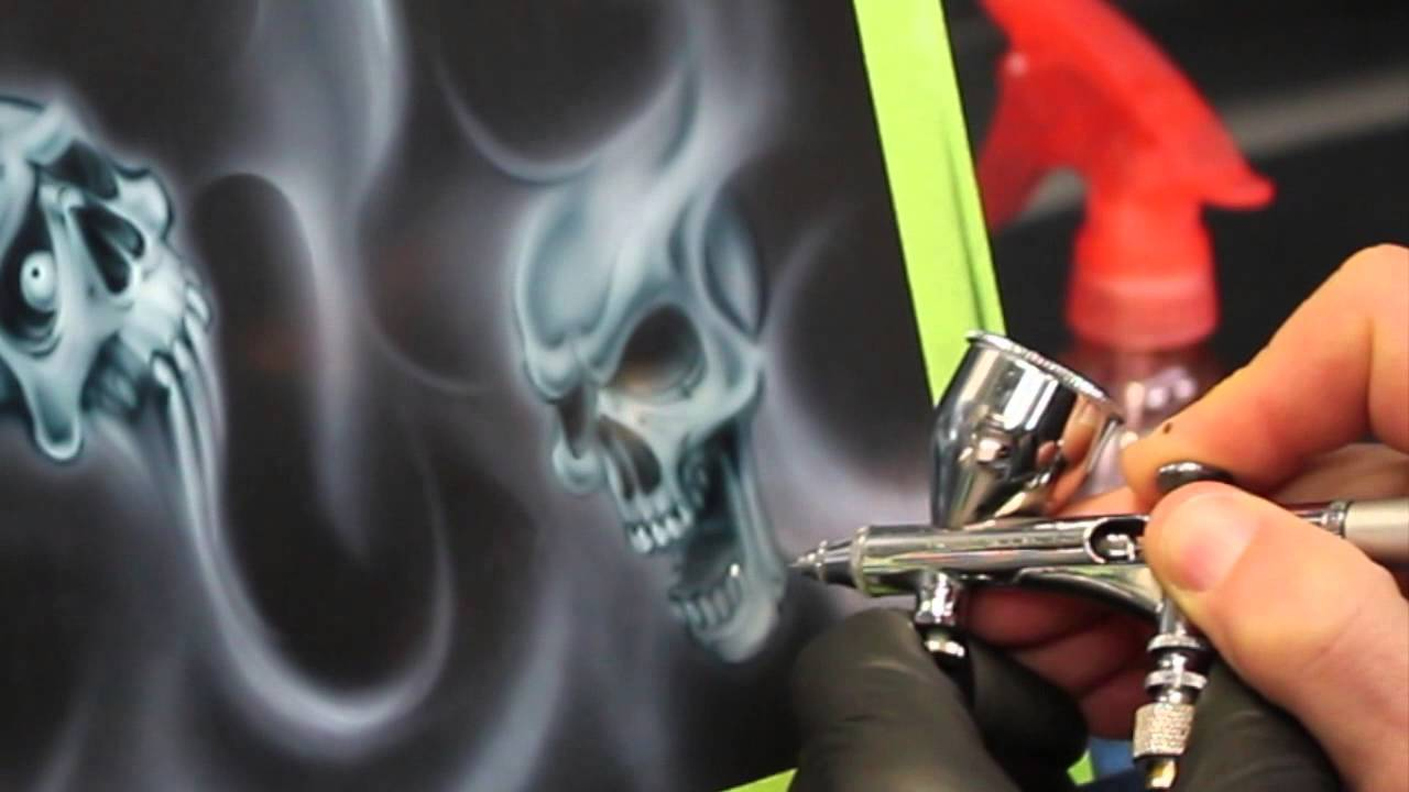 Smoke Flames And Skulls Step By Step Youtube