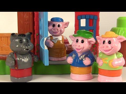 Mega Bloks Les trois petits cochons et le loup 3 Little Pigs Playset Jeu de Construction Megablocks