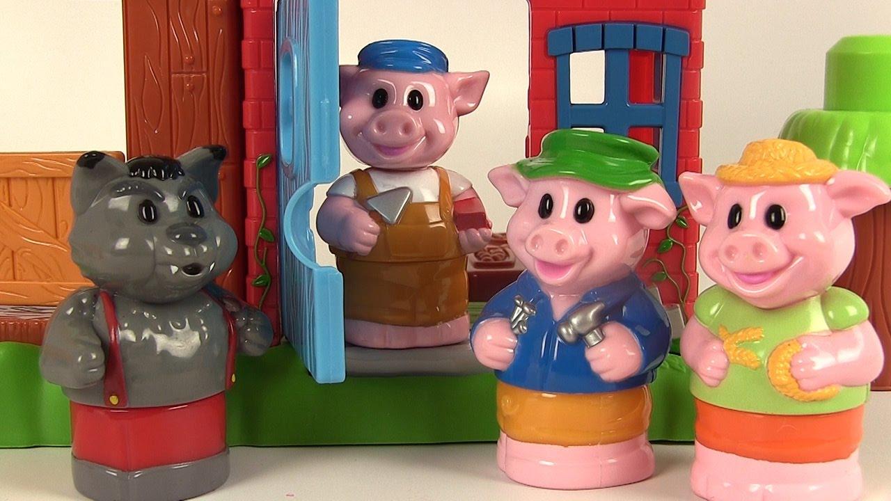 mega bloks les trois petits cochons et le loup 3 little. Black Bedroom Furniture Sets. Home Design Ideas