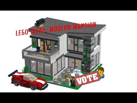 Lego Ideas Project: Luxurious Modern Mansion