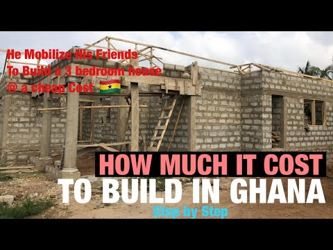 Cost Of Building A Three (3) Bedroom House In Ghana 🇬🇭| From Foundation to Roofing | Single Storey