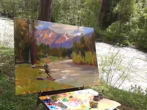 Alexander Babich masterclass. Russian impressionism