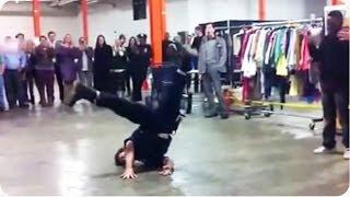NYPD Cop Tears it Up | Street Performer Break Dance BATTLE