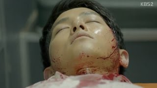 Descendants of the Sun episode 14 - Song Hye Kyo cured Song Joong Ki