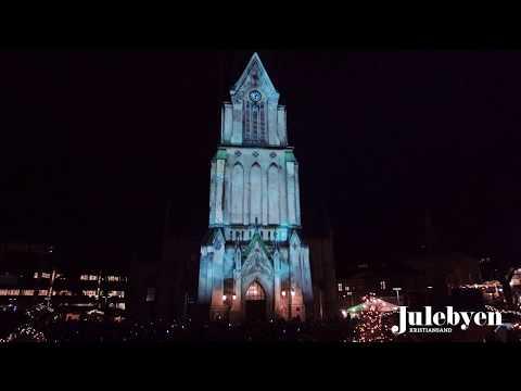 3D lysshow og juleshow på Domkirken I Kristiansand 2018 - 3D light show on Kristiansand Cathedral
